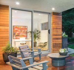 Sleek sliding glass doors
